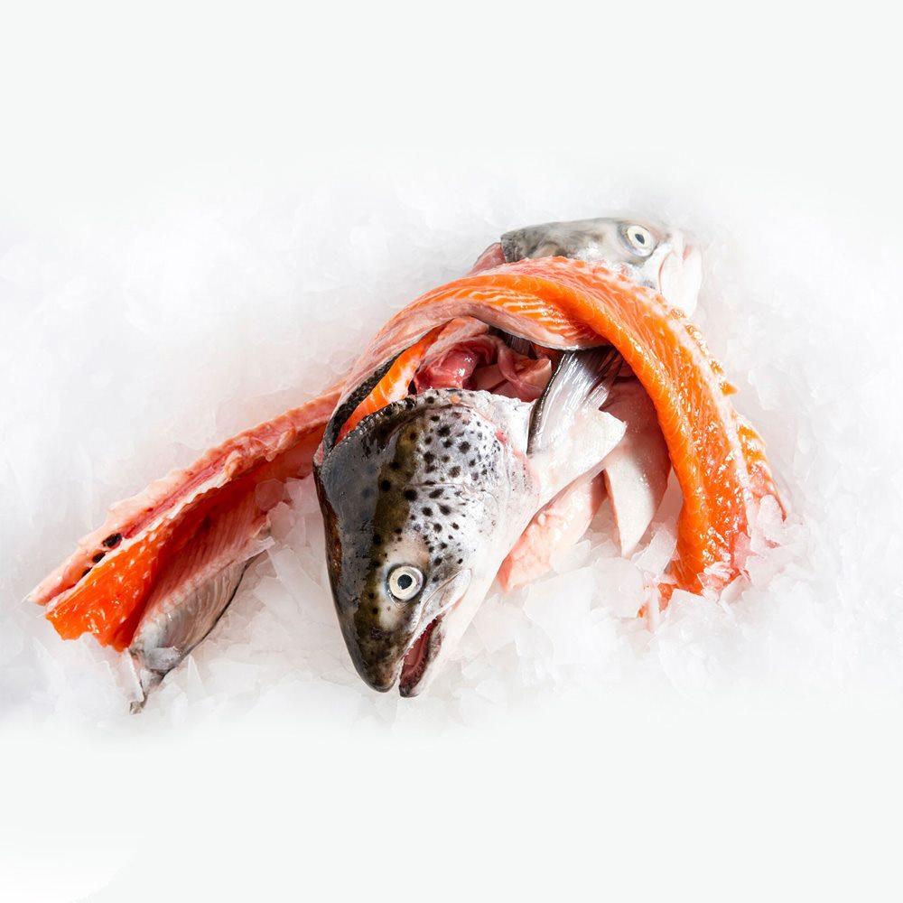 Đầu cá + Bộ xương cá Hồi Na Uy