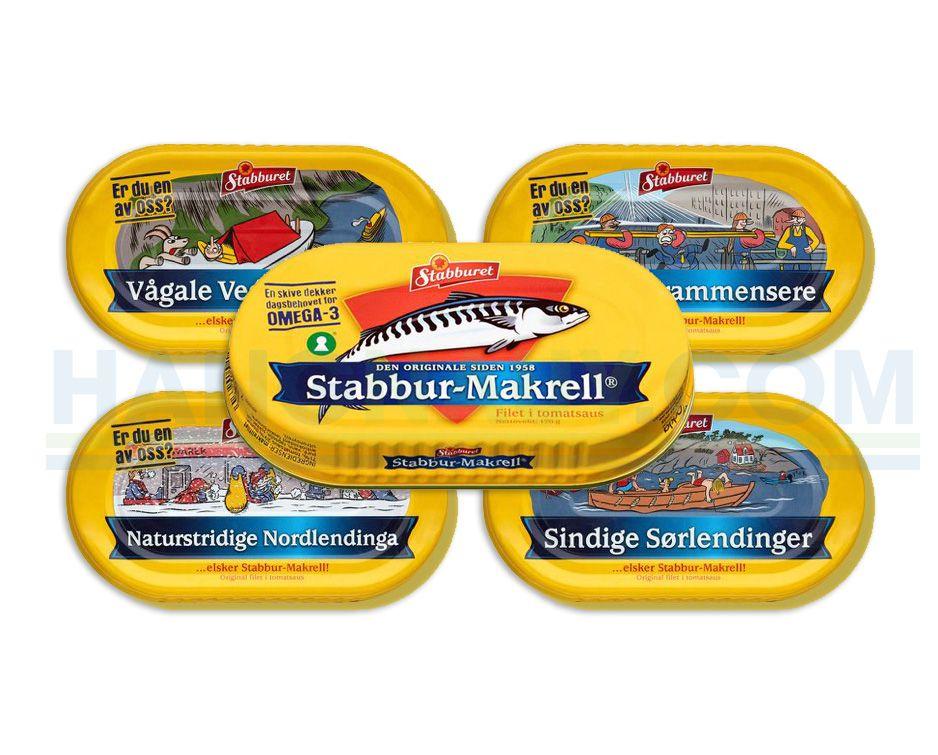 COMBO 5 Hộp Cá Thu Nauy Sốt Cà  Stabbur-Makrell