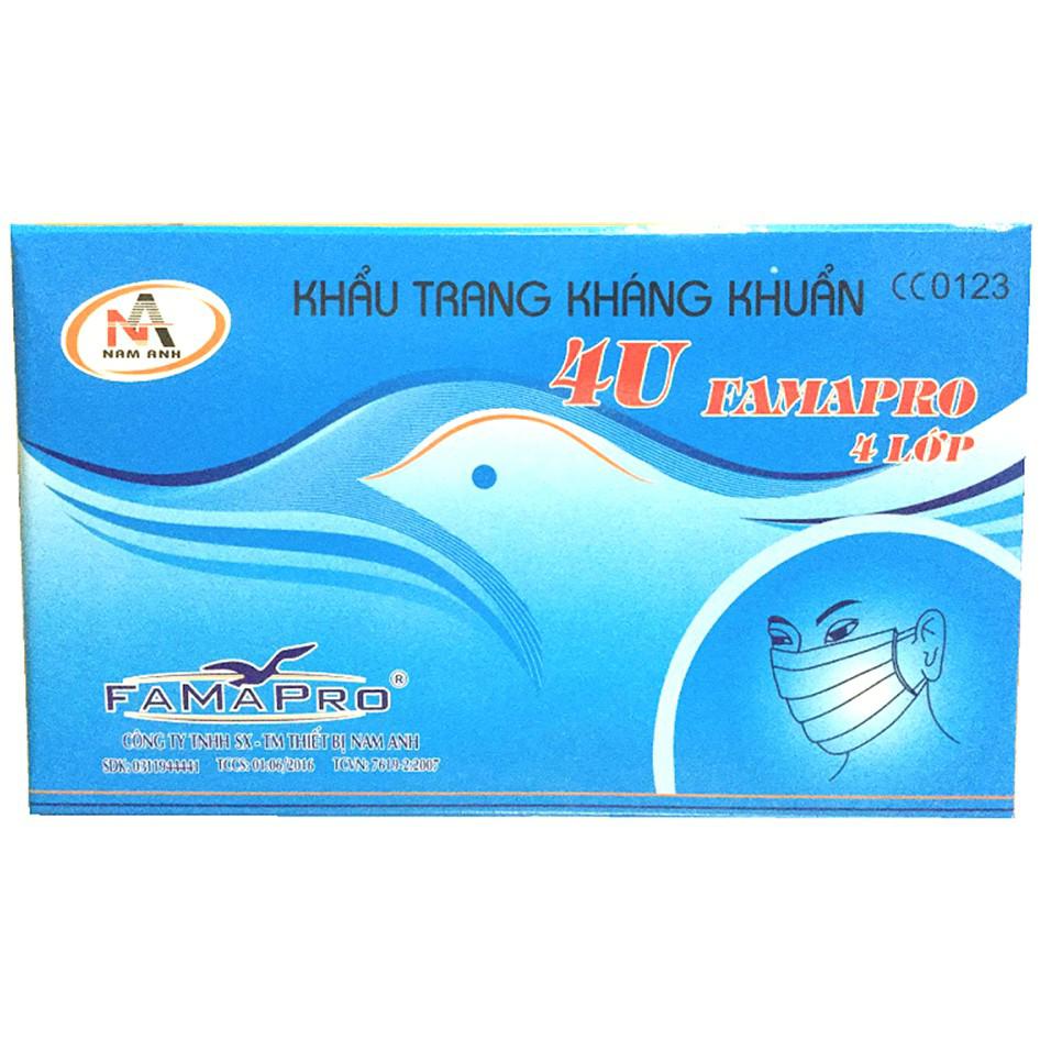 Khẩu trang y tế cao cấp Nam Anh Famapro 4 lớp (50 cái)
