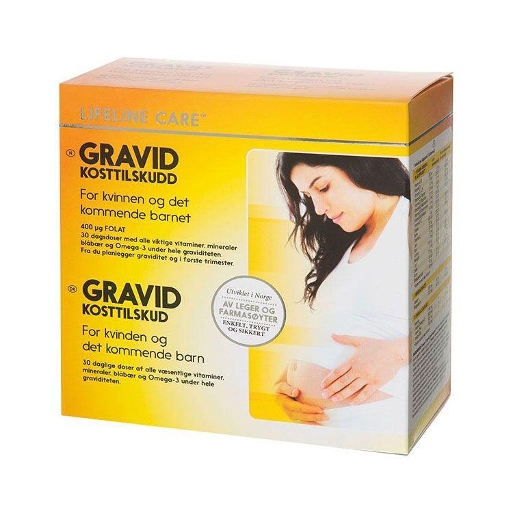Viên Uống Bổ Sung Bà Bầu Gravid - Lifeline Care [ 5 Vỉ - 24 Viên / Vỉ ]